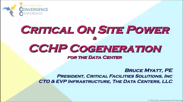 Critical On-site Power Generation for The Data Center