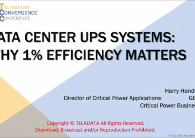 Data Center UPS Systems: Why 1% Efficiency Matters