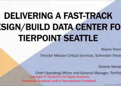 Delivering a Fast-Track Design/Build Data Center for TierPoint Seattle