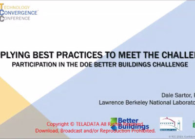 Applying Best Practices to Meet the Challenge: Participation in the DOE Better Building Challenge