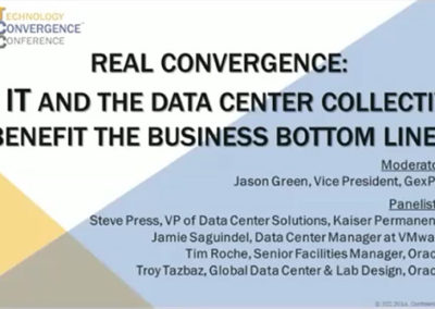 Real Convergence: Can IT and The Data Center Collectively Benefit The Business Bottom Line?